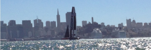Oracle Team USA In Full Flight