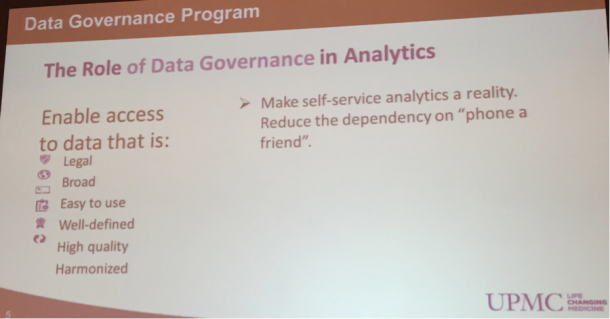 Role of Data Governance in Analytics - Informatica World 2015